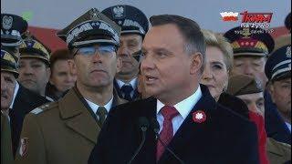 Centralne obchody Święta Niepodległości w Warszawie - przemówienie Prezydenta Andrzeja Dudy