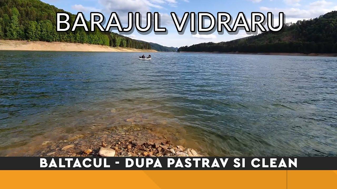 Pescuit la trena pe Lacul Vidraru