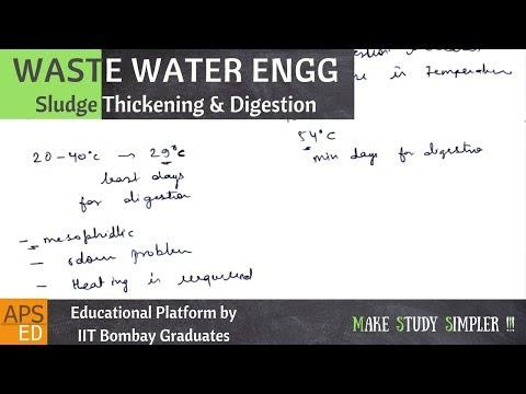 Sludge Thickening And Digestion   Waste Water Engineering