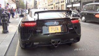 Lexus LFA Crazy V10 Exhaust Sound in The City
