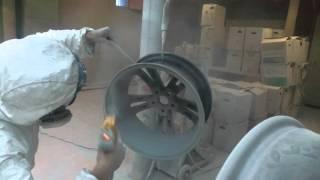 покраска дисков порошковой краской или полимерная(красим диски отпескоструиные полимерной краской RAL9006., 2015-10-13T13:37:23.000Z)