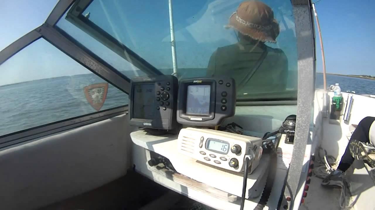 vhf west marine radio - chincoteague VA coast guard broadcast a plane crash
