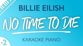 Billie Eilish - N๐ Time To Die (Karaoke Piano) Lower Key