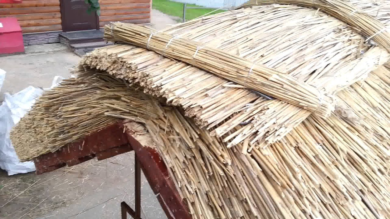 Камышовая крыша своими руками