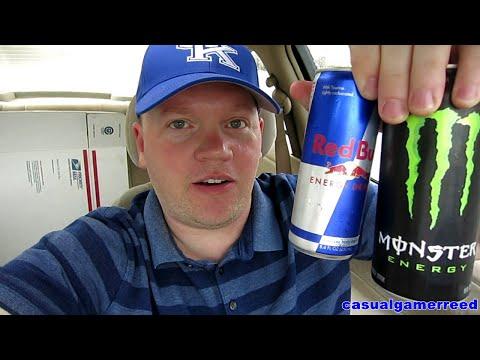 Red Reviews Red Bull vs Monster Taste Test
