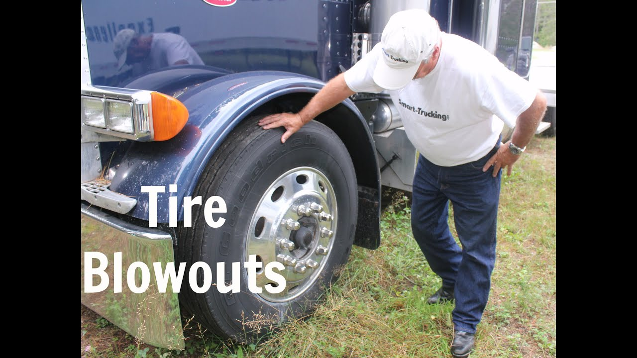 How to Handle a Tire Blowout in a Big Rig  YouTube
