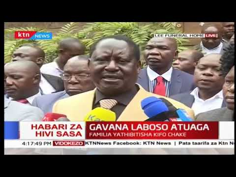 \'\'It is a major blow to the Nation of Kenya to lose Joyce Laboso\'\' , Raila Odinga