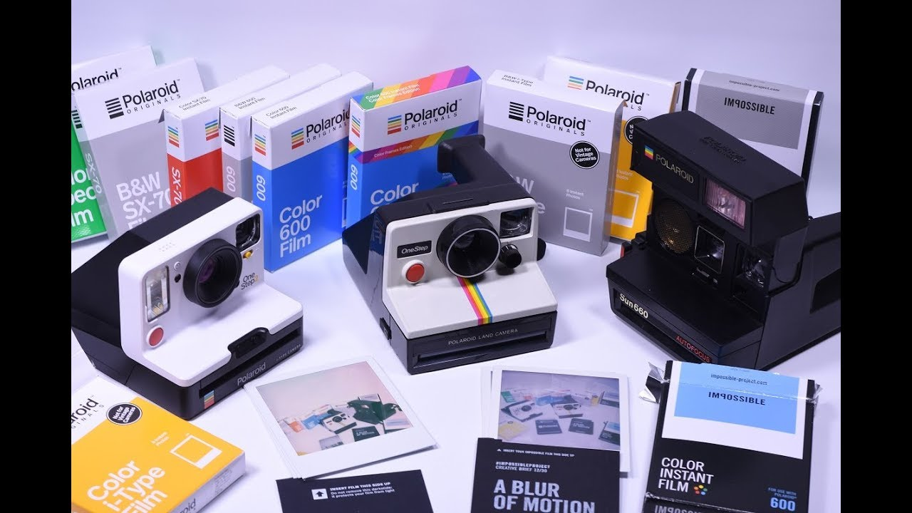 ce0eb79aa12f2d Polaroid Originals OneStep2 Camera   i Type Film Vs IMPOSSIBLE PROJECT  Color 600 Film   Sun600 Cam