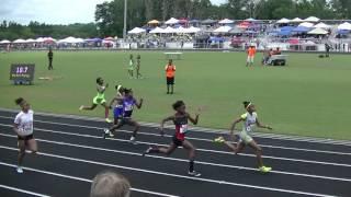 12yr Shawnti Jackson 12.41s 100m MEET RECORD Mark Trail Invitational 2017
