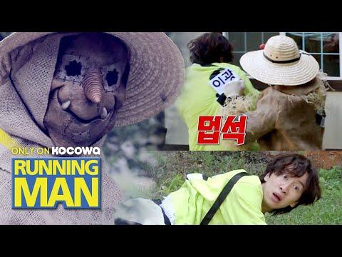 The Scarecrow Grabs Kwang Soo's Name Tag [Running Man Ep 505]