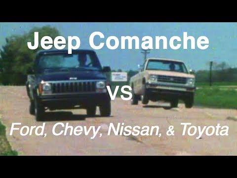 Jeep Comanche vs Ford, Chevy, Nissan, and Toyota - 1986 Dealer Training Film