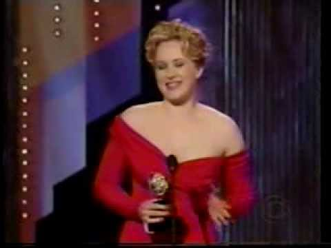 Katie Finneran wins 2002 Tony Award for Best Featured Actress in a Play