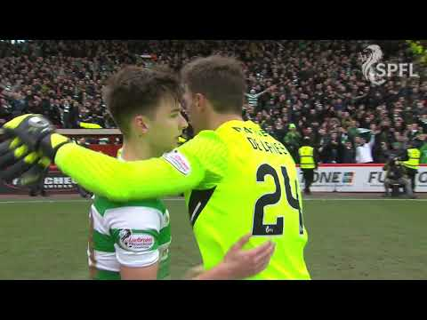 Watch full time celebrations as Celtic win at Pittodrie