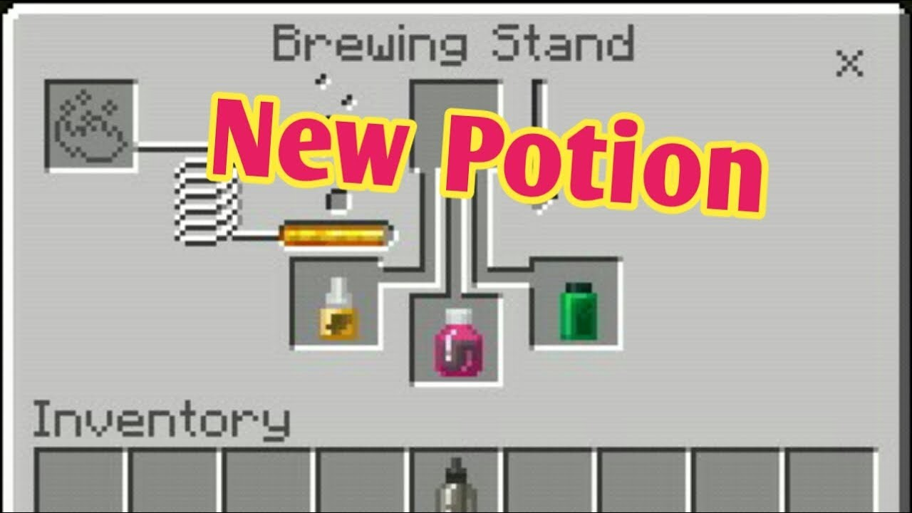 How To Craft The New Potion In Minecraft Chemistry Update Youtube