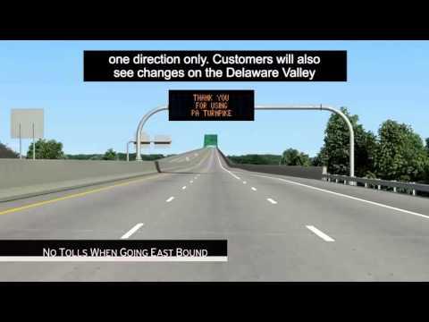 Cashless tolls start on PA side of Turnpike Bridge