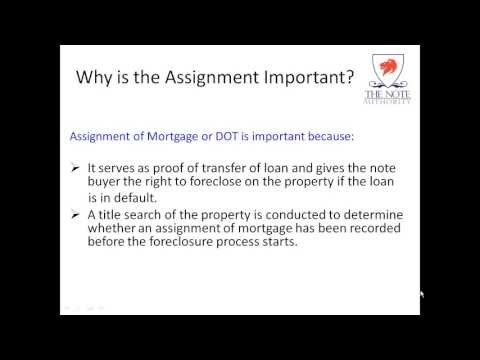 How To Record an Assignment Of Mortgage or Deed of Trust