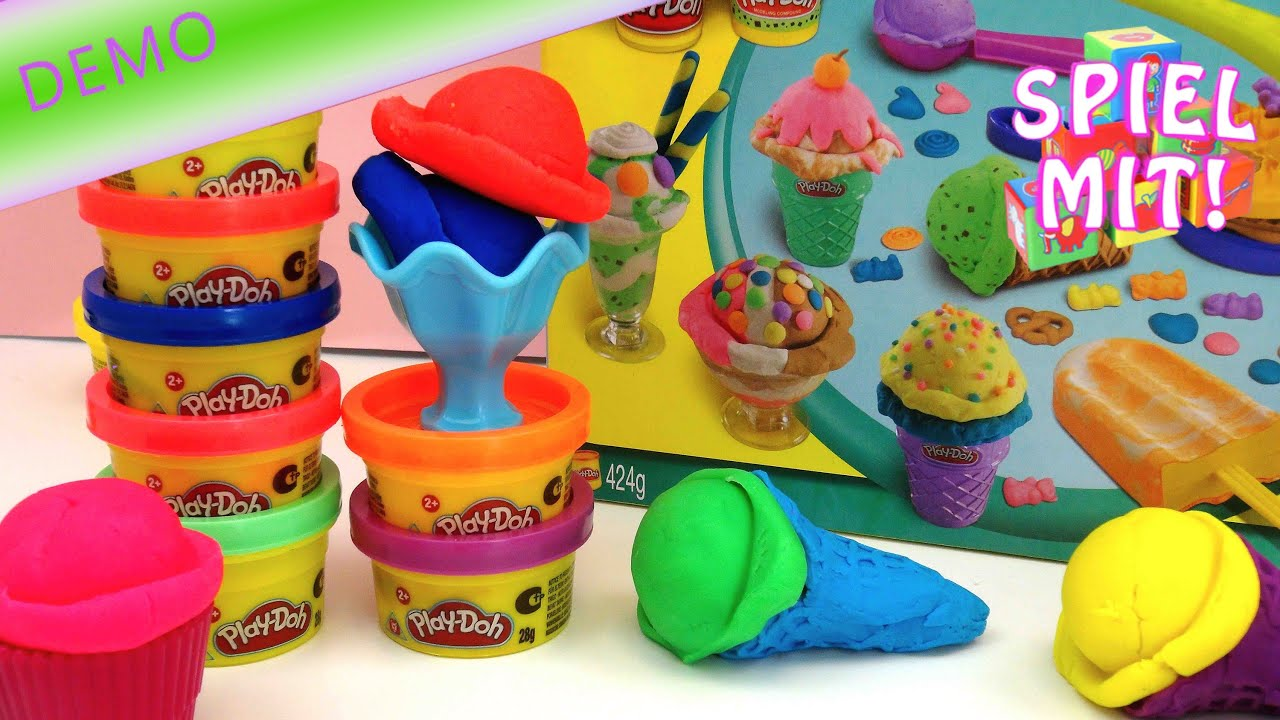 Play Doh Knet Küche Play Doh Knete Deutsch Eis 10er Set Playdoh Inklusive