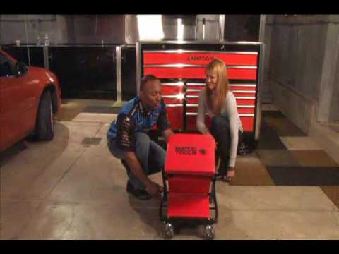 Stool Chair Red Brown Leather Rocking Matco Tools Creeper Zc450 - Youtube