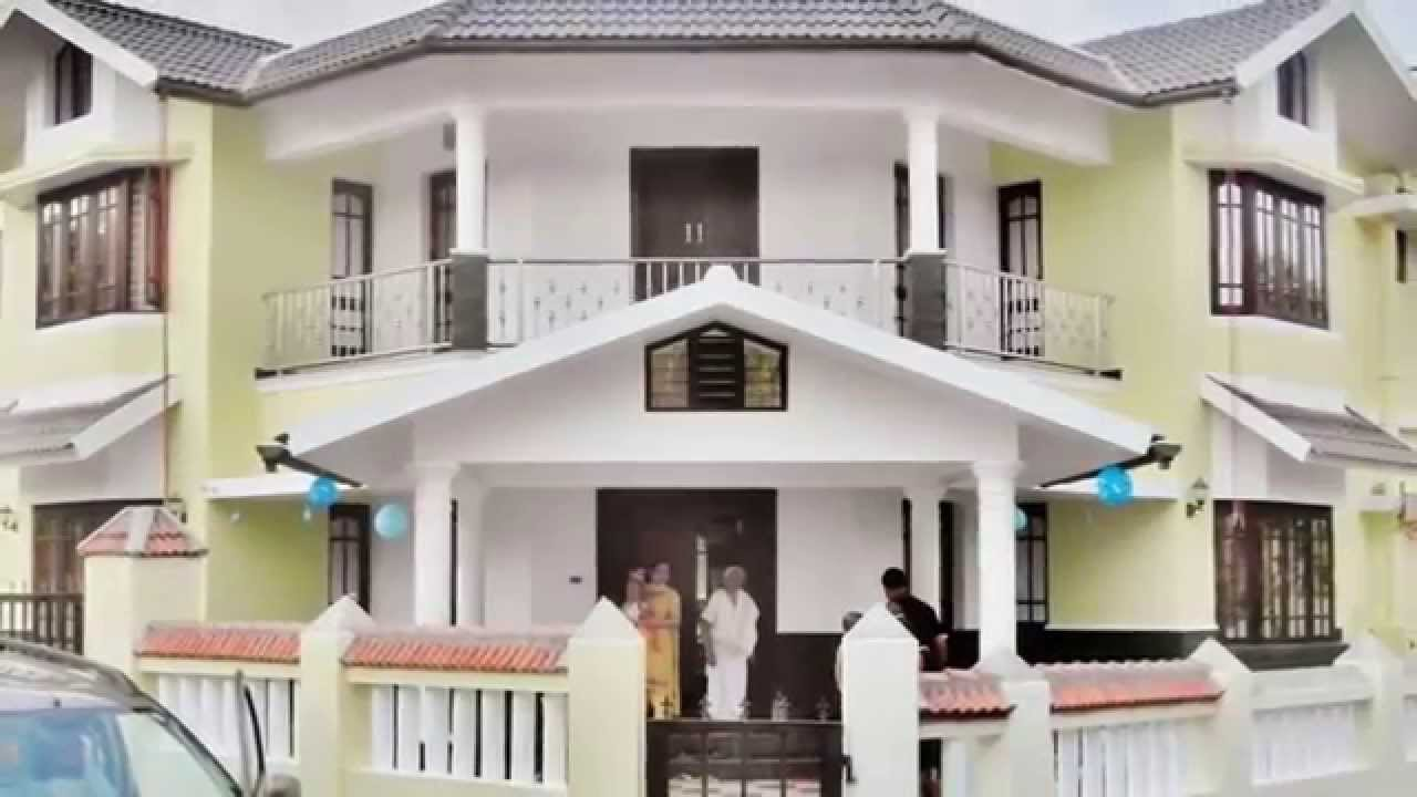 Beautiful house in kerala veedu low cost homes youtube for Low cost kerala veedu plans