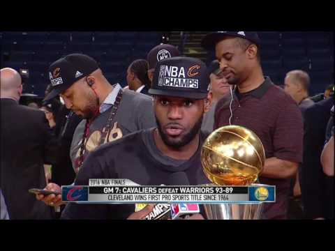 LeBron James Finals MVP joins the desk | Cavaliers vs Warriors - Game 7 NBA Finals