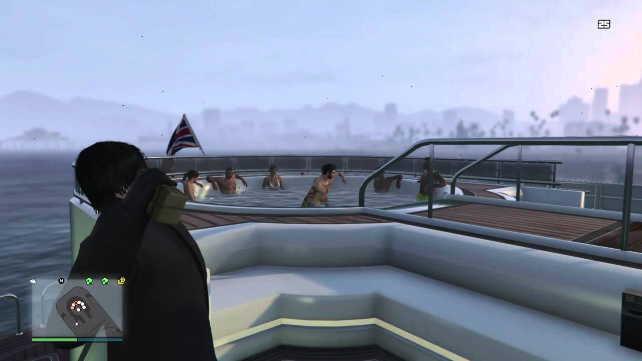 Gta 5 Hot tub on yacht meets sticky ending - YouTube
