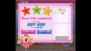 Candy Crush Saga Level 569 ★★★ NO BOOSTER