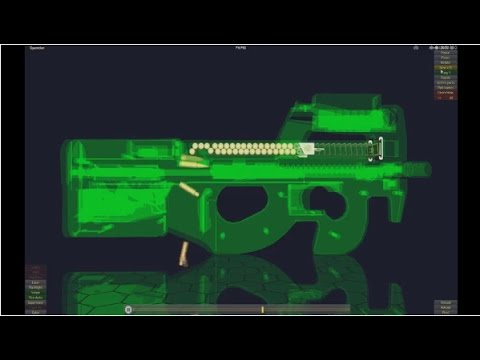 How does FN-P90 Work in 3D Animation