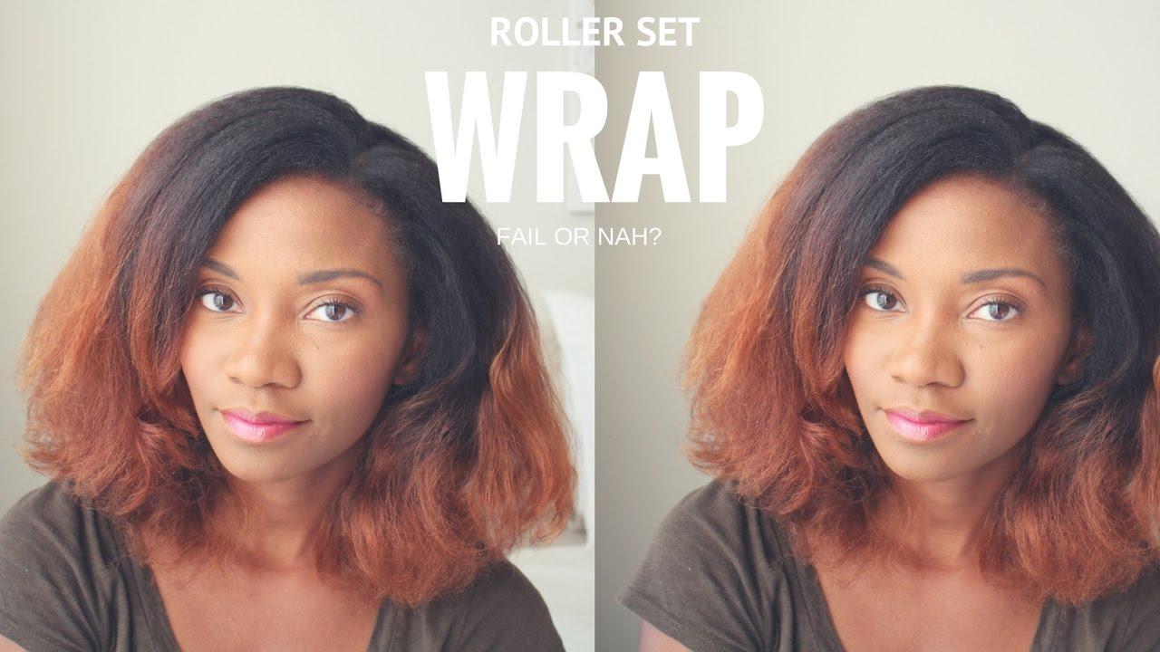 Roller Wrap Set Natural Hair