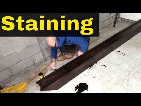 Staining A Wood Fireplace Mantel-Pine Wood-DIY