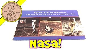 Republic of The Marshal Islands - First Men on the Moon $5 Commemorative Coin