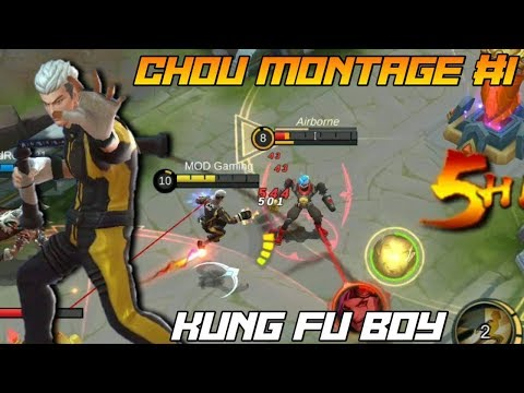 Chou Montage #1 - Kung Fu BOY - MOD Gaming - Mobile Legends - 동영상