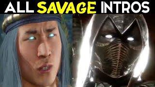 Mortal Kombat 11 - MOST SAVAGE & MEANEST INTROS - Noob Saibot / MK11 All Savage Intros