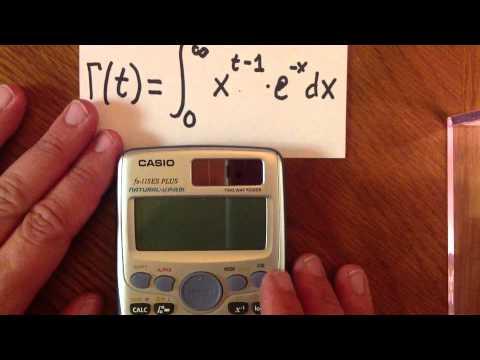 Estimating Gamma On A Scientific Calculator (Casio FX-115 ES, TI-36X PRO, Sharp EL-W516X)