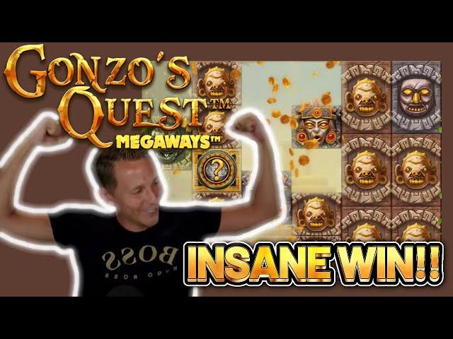 INSANE WIN! GONZOS QUEST MEGAWAYS BIG WIN -  Casino Slots from Casinodaddy LIVE STREAM