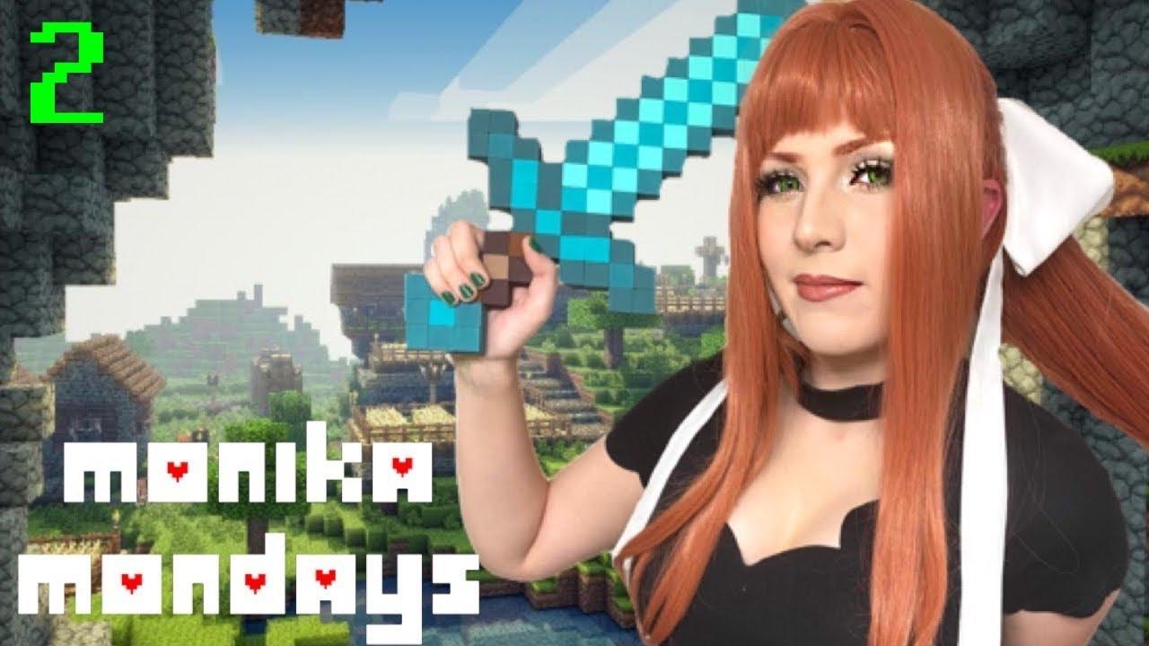 Monika Mondays [ DDLC Cosplay ] | Minecraft #2