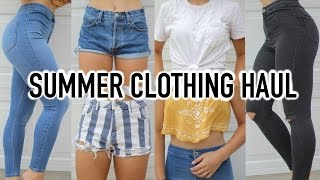 California Summer TRY-ON Haul! | TopShop, Brandy Melville, + More!