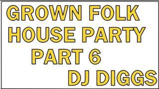 GROWN FOLK  HOUSE PARTY 6 (STEPPERS BASS BEAT) DJ DIGGS