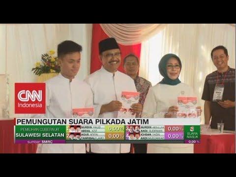 Gus Ipul & Keluarga Mencoblos Di TPS 3, Gayungsari Surabaya | Pilkada Jatim