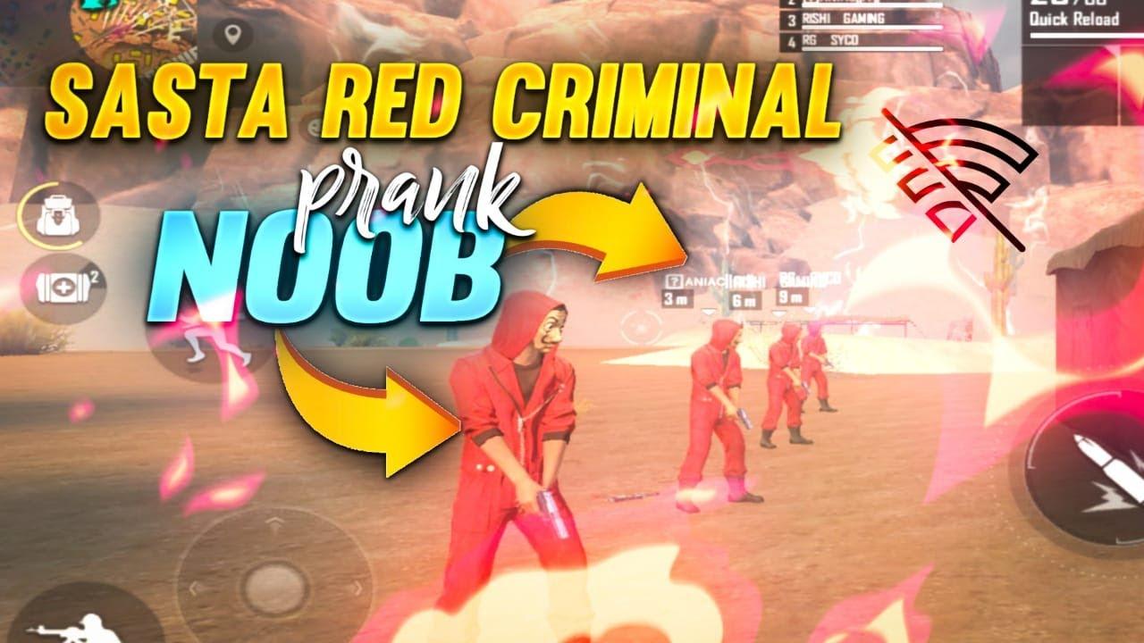 RED SASTA CRIMINAL SNAKE PRANK LIVE 🛑 || FREE FIRE HINDI