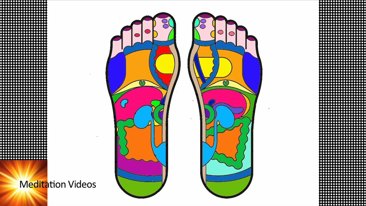 reflexology how feet are connected to body parts [ 1280 x 720 Pixel ]