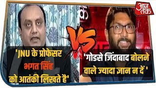 Universities में अराजक माहौल पर Sudhanshu Trivedi और Jignesh Mevani में तीखी बहस | HallaBol
