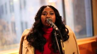 "Jazmine Sullivan Performing ""Stupid Girls"" Live Acoustic at Press Listening Event 1/12/15"