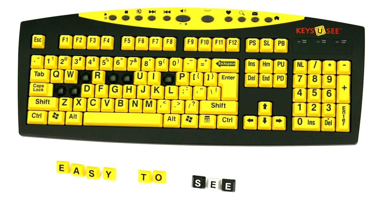 ef05163760c Keys-U-See© Large Print Keyboards - YouTube