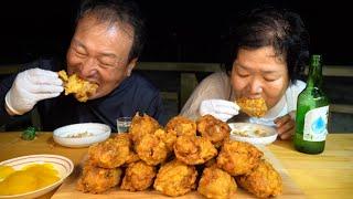 마늘 듬뿍넣어 가마솥에 튀긴 마늘닭다리 (Fried c…