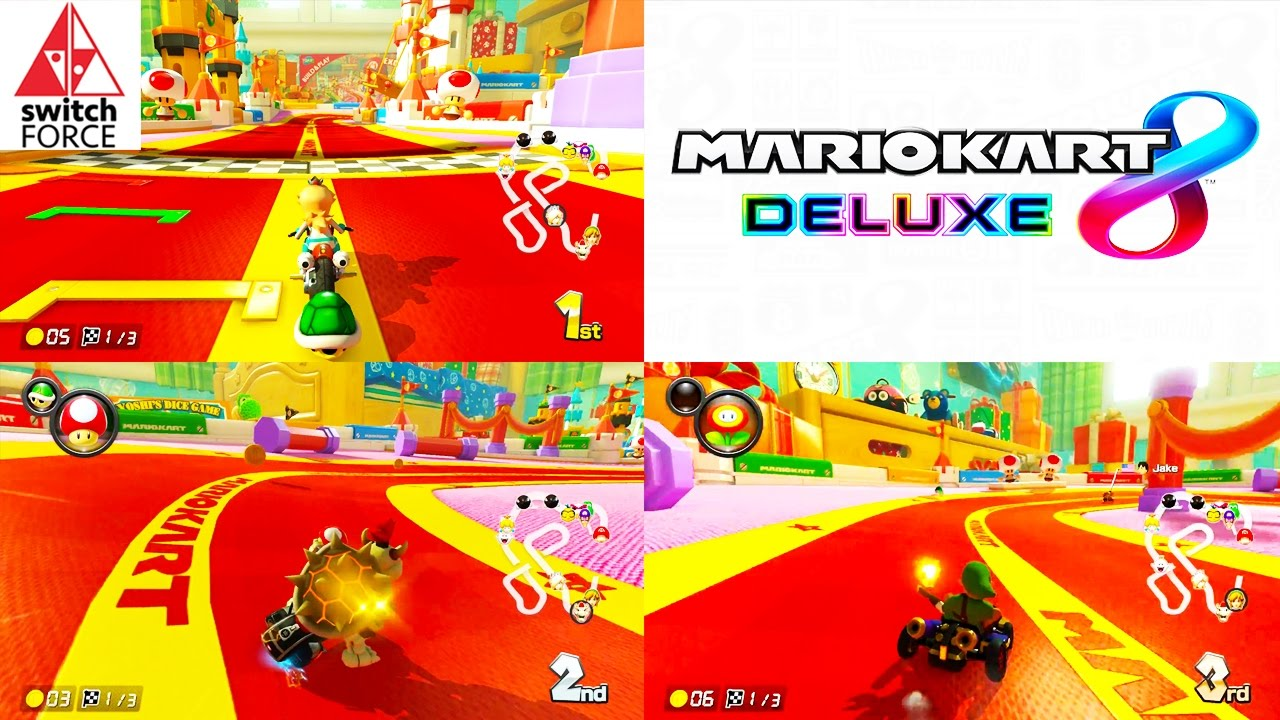switch multiplayer grand prix in mario kart 8 deluxe youtube. Black Bedroom Furniture Sets. Home Design Ideas