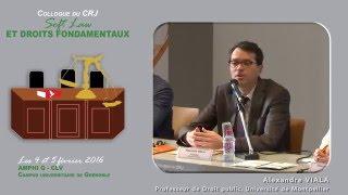 """Colloque """"Soft Law et Droits fondamentaux"""" - Intervention Mr Alexandre VIALA"""