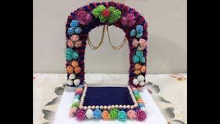 Ganpati Makhar  Ganapati Makhar decoration ideas/Navaratri decoration ideas