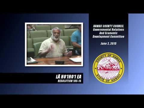 Hawaii County Council Supports La Ho