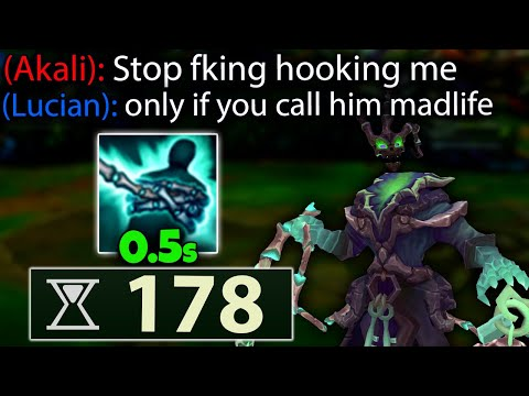 0.5 SECOND Q THRESH???? PERMA Hooking everyone with 178 Ability Haste is INSANE