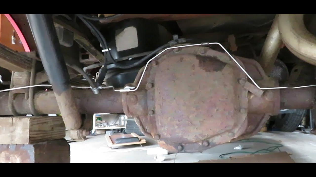 How to Replace all Rear Brake Lines and hoses with Kit Ford F150 Part 2:  Installation